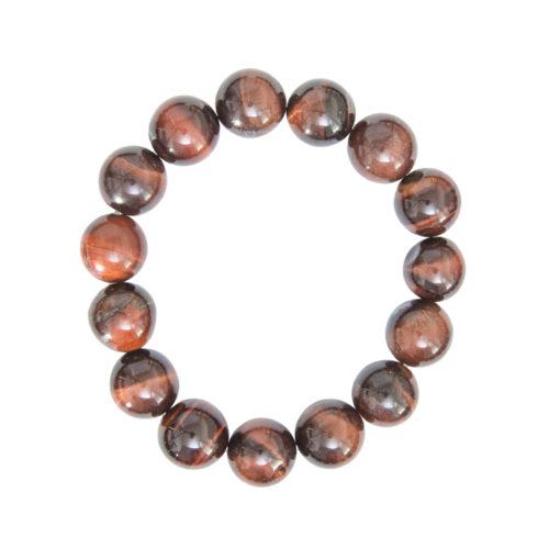 bracelet oeil de taureau pierres boules 12mm