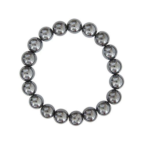 bracelet hématite pierres boules 10mm