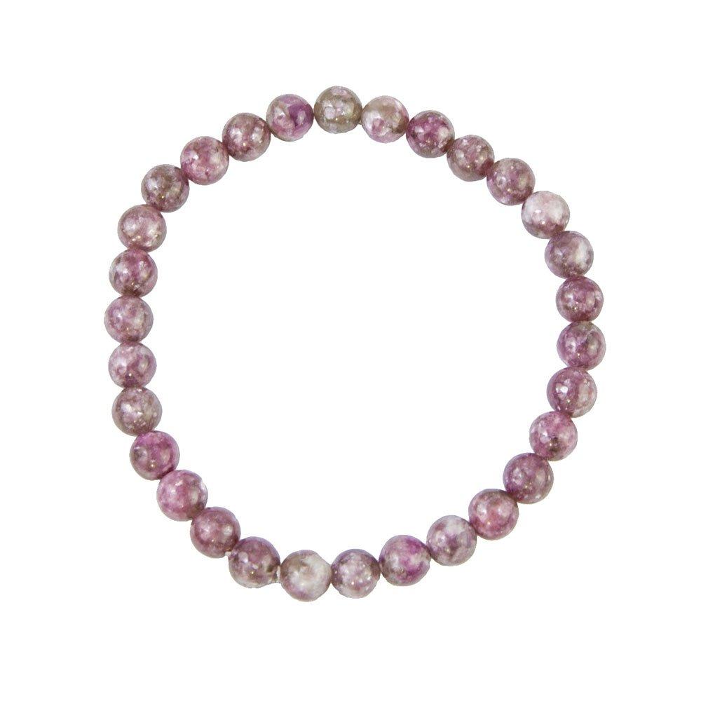 bracelet tourmaline rose pierres boules 6mm