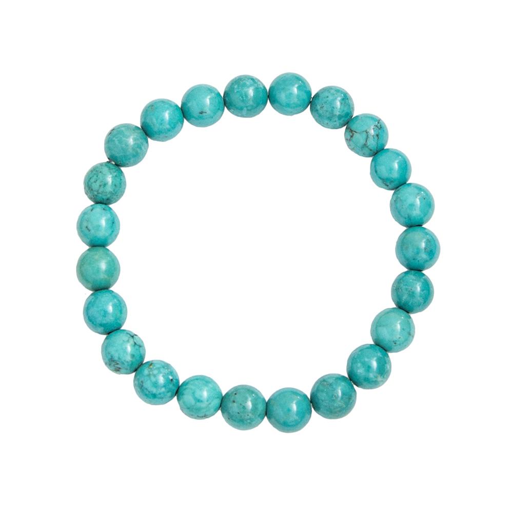 bracelet turquoise pierres boules 8mm