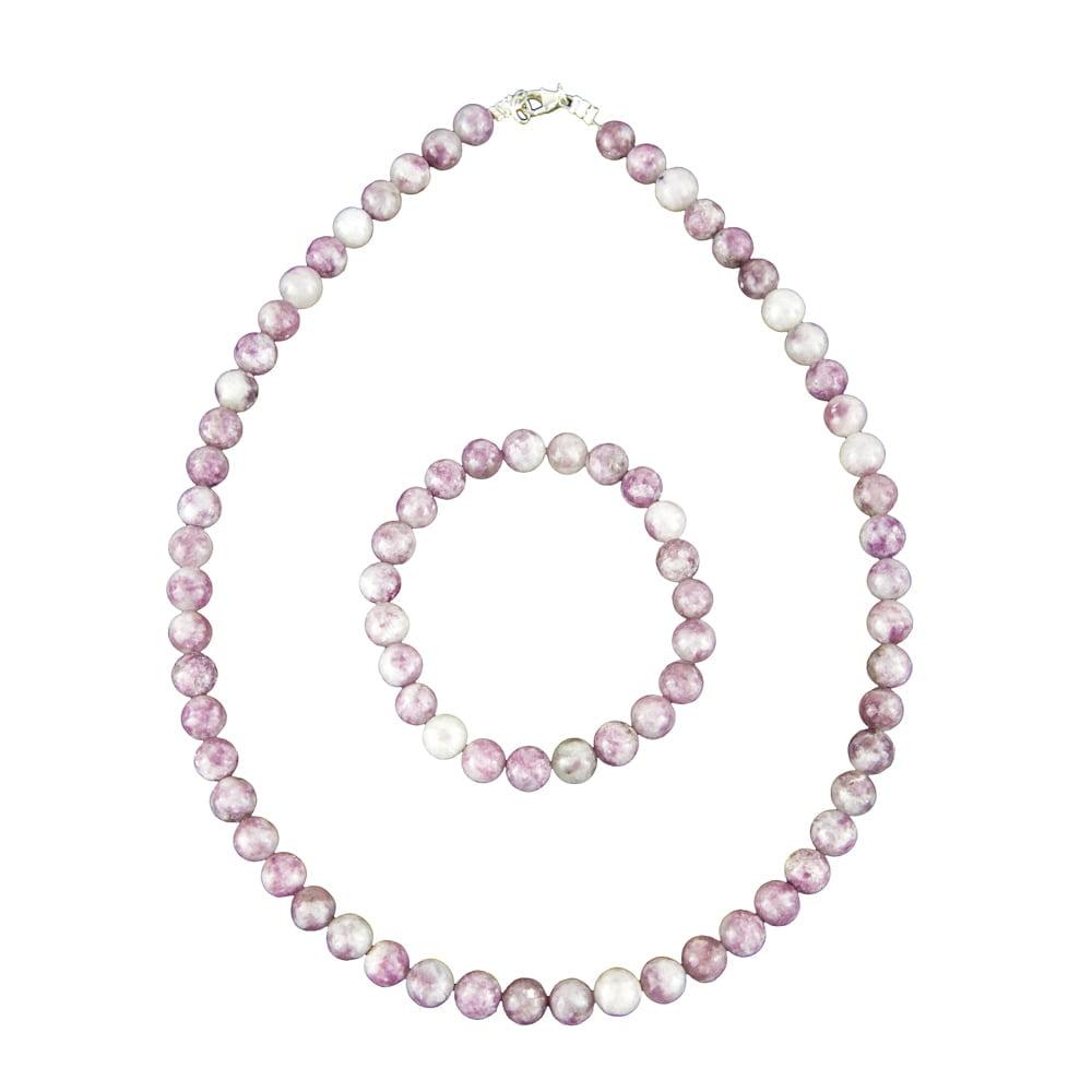 coffret tourmaline rose pierres boules 8mm