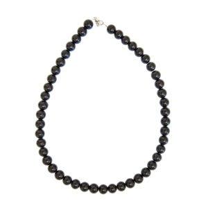 collier tourmaline noire pierres boules 10mm