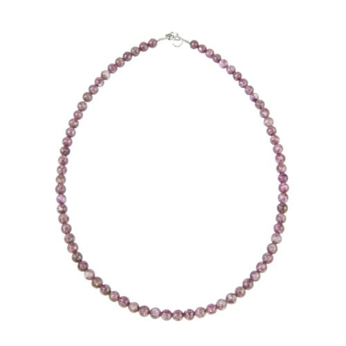 collier tourmaline rose pierres boules 6mm