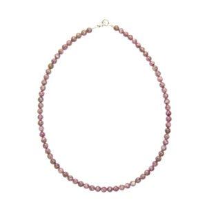 collier tourmaline rose pierres boules 6mm