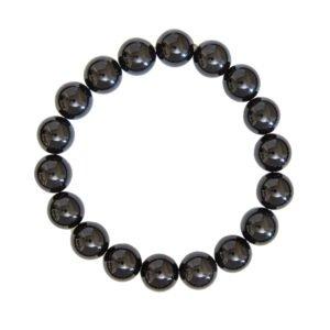bracelet tourmaline noire pierres boules 10mm
