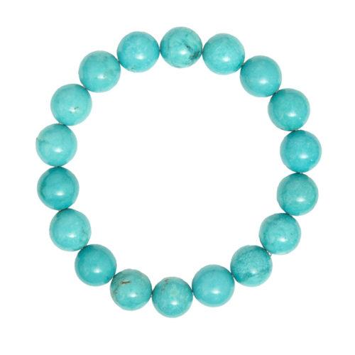 bracelet turquoise pierres boules 10mm
