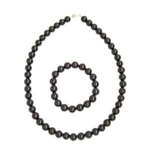coffret tourmaline noire pierres boules 10mm