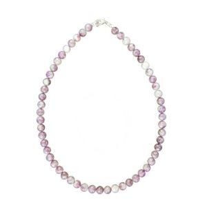 collier tourmaline rose pierres boules 8mm