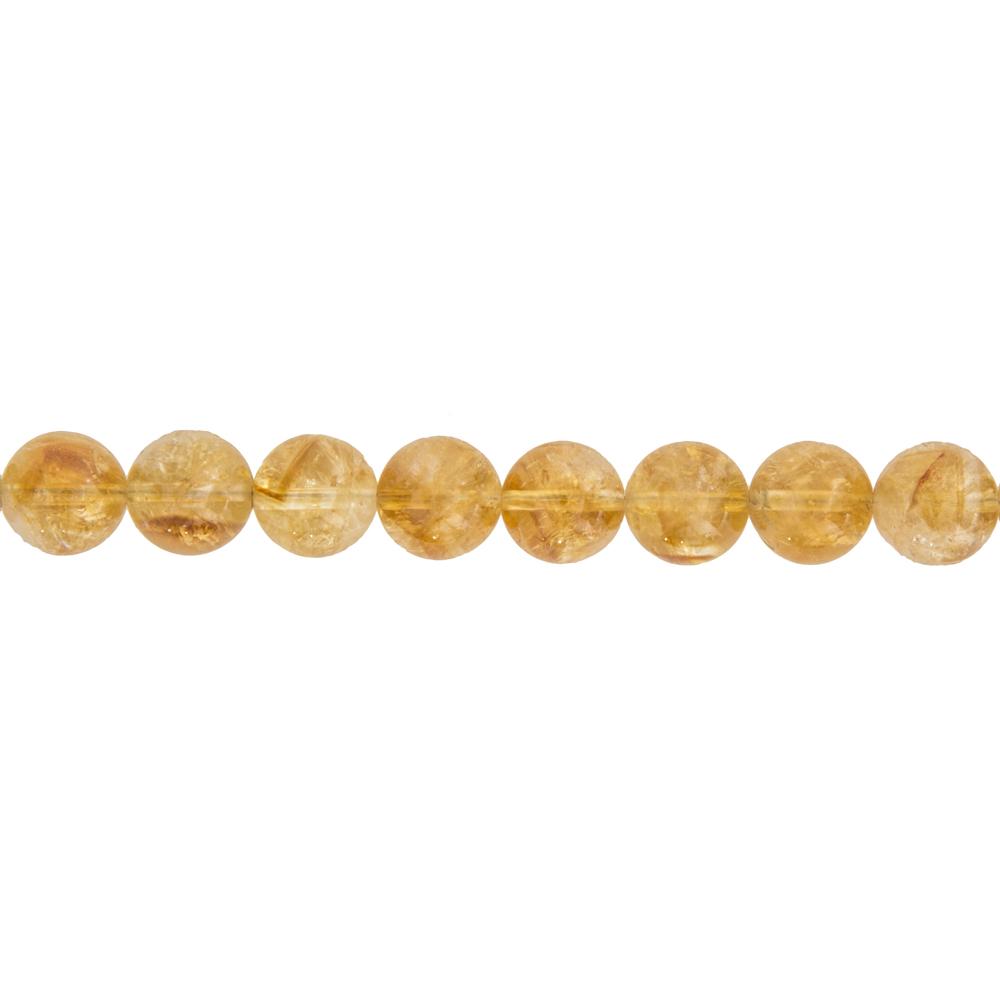 fil citrine pierres boules 12mm