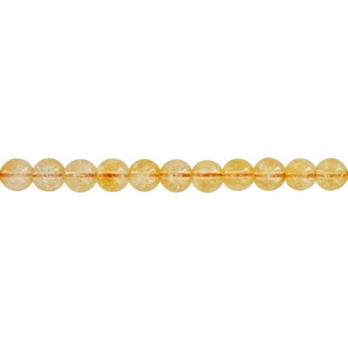 fil citrine pierres boules 6mm