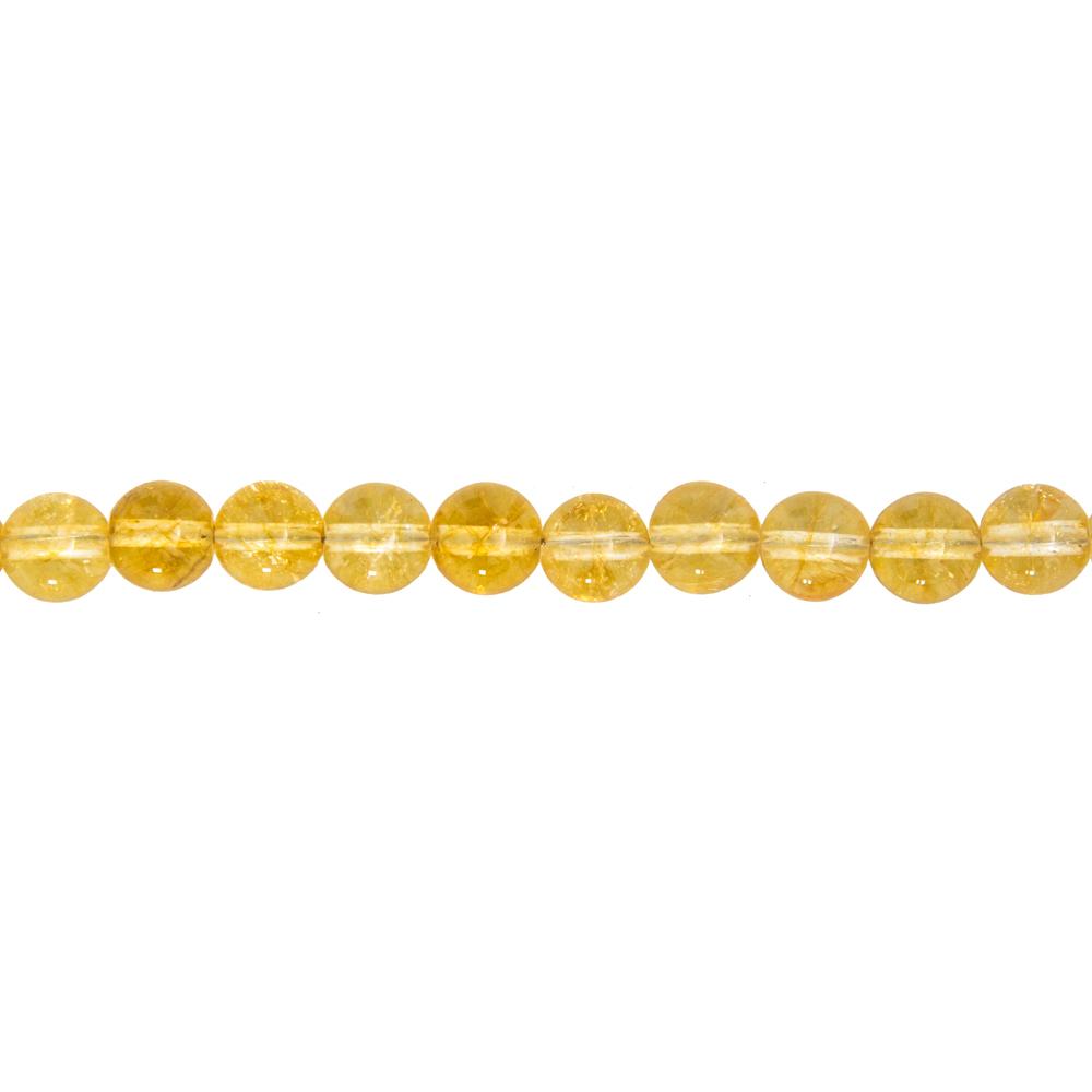 fil citrine pierres boules 8mm