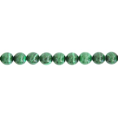 fil malachite pierres boules 10mm