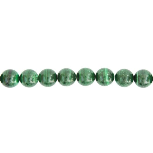 fil malachite pierres boules 12mm