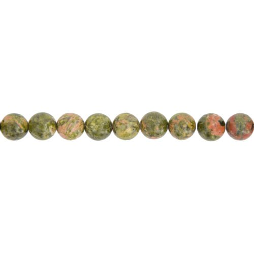 fil unakite pierres boules 10mm