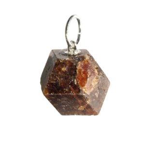 pendentif grenat pierre brute