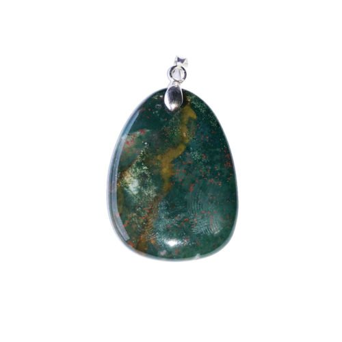 pendentif jaspe héliotrope pierre plate