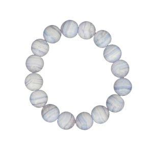 bracelet calcédoine pierres boules 12mm
