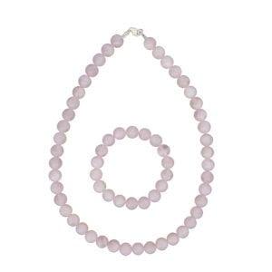 coffret quartz rose pierres boules 10mm