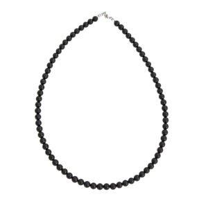 collier tourmaline noire pierres boules 6mm