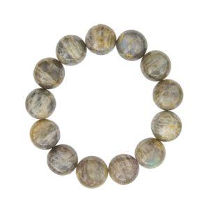 bracelet labradorite pierres boules 14mm