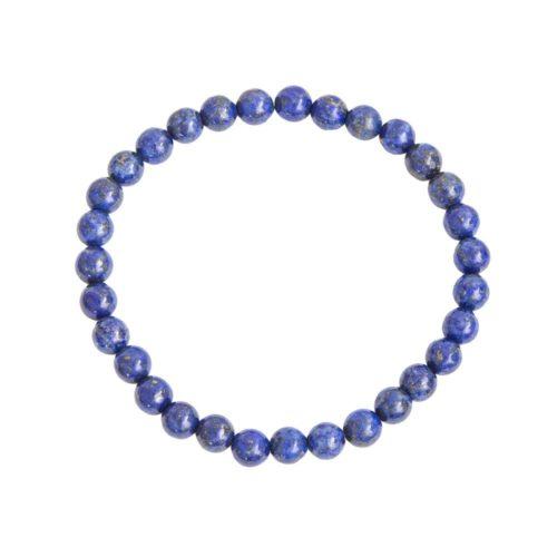 bracelet lapis lazuli pierres boules 6mm