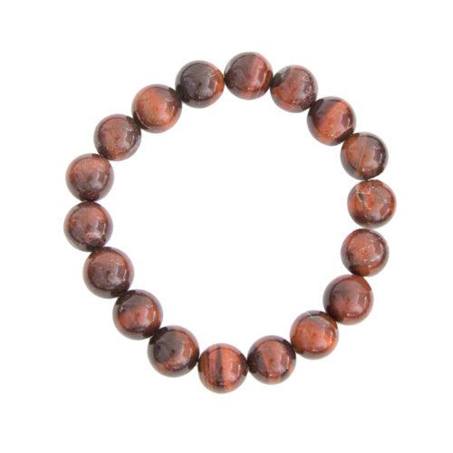 bracelet oeil de taureau pierres boules 10mm