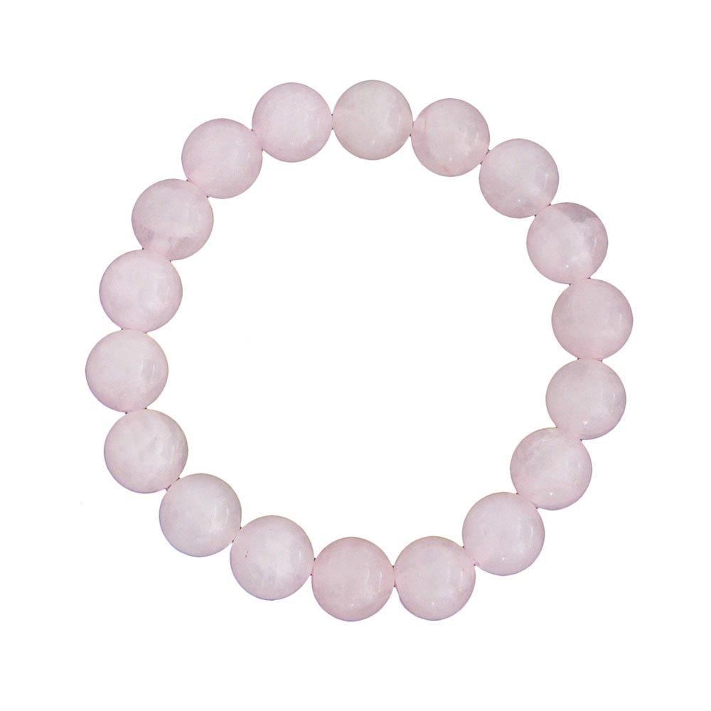 bracelet quartz rose pierres boules 10mm