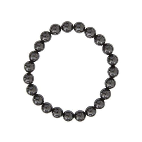 bracelet tourmaline noire pierres boules 8mm