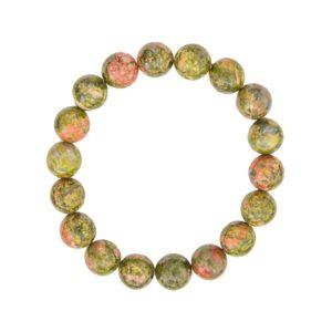 bracelet unakite pierres boules 10mm