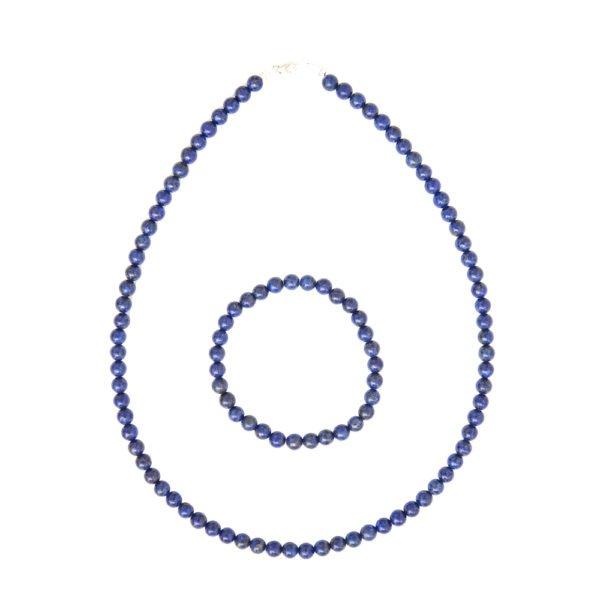 coffret lapis lazuli pierres boules 6mm