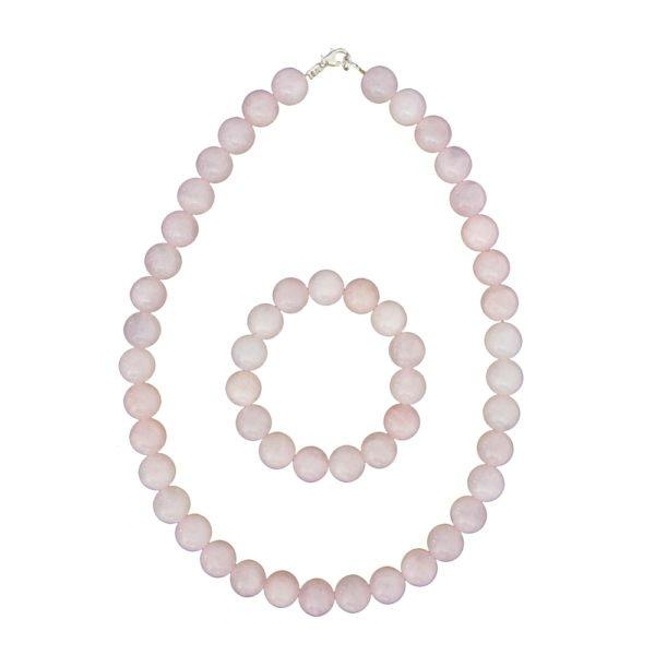 coffret quartz rose pierres boules 12mm