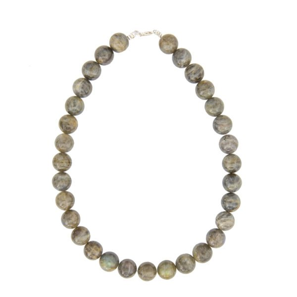 collier labradorite pierres boules 14mm