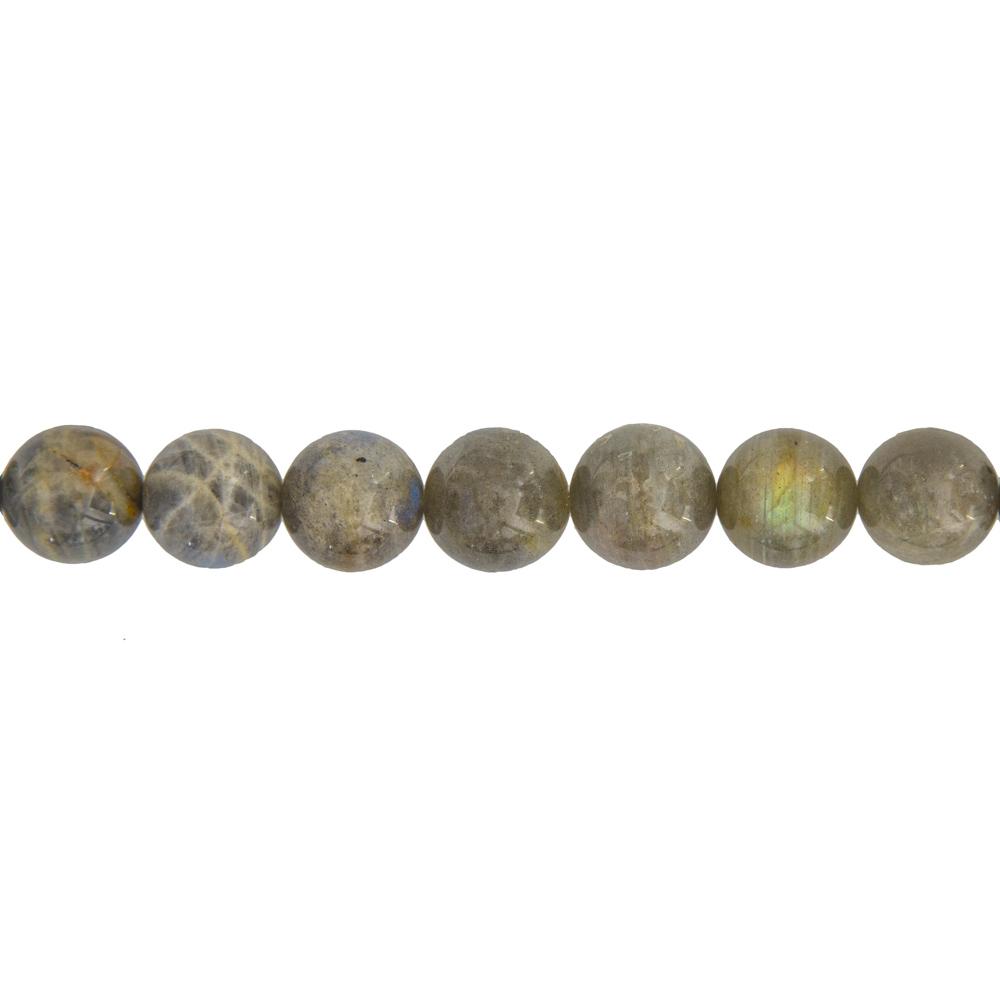 fil labradorite pierres boules 14mm