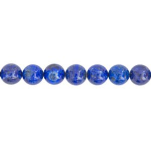 fil lapis-lazuli pierres boules 14mm