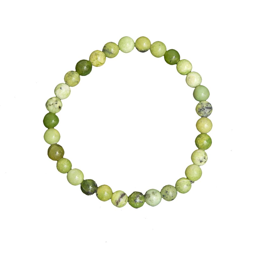 bracelet chrysoprase citron pierres boules 6mm