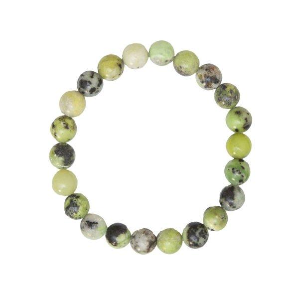 bracelet chrysoprase pierres boules 8mm