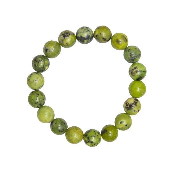 bracelet chrysoprase pierres boules 10mm