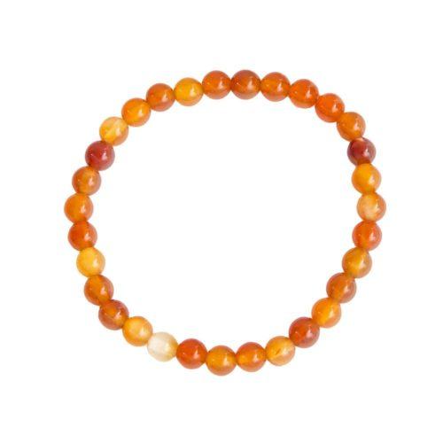 bracelet cornaline pierres boules 6mm