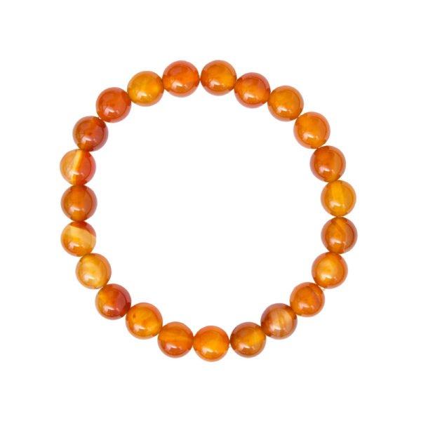 bracelet cornaline pierres boules 8mm