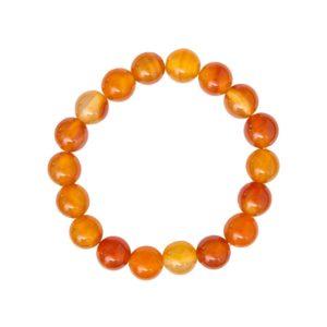 bracelet cornaline pierres boules 10mm
