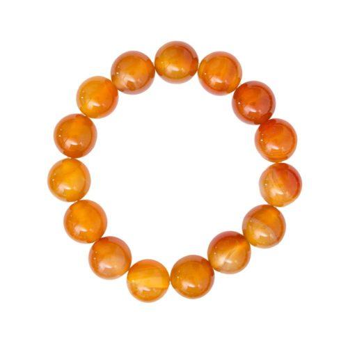 bracelet cornaline pierres boules 12mm