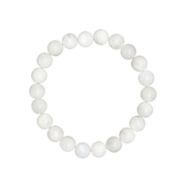 bracelet pierre de lune pierres boules 8mm