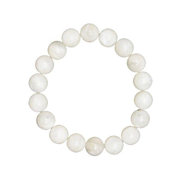 bracelet pierre de lune pierres boules 10mm