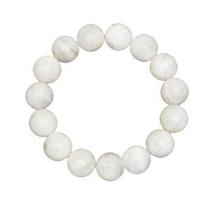 bracelet pierre de lune pierres boules 12mm