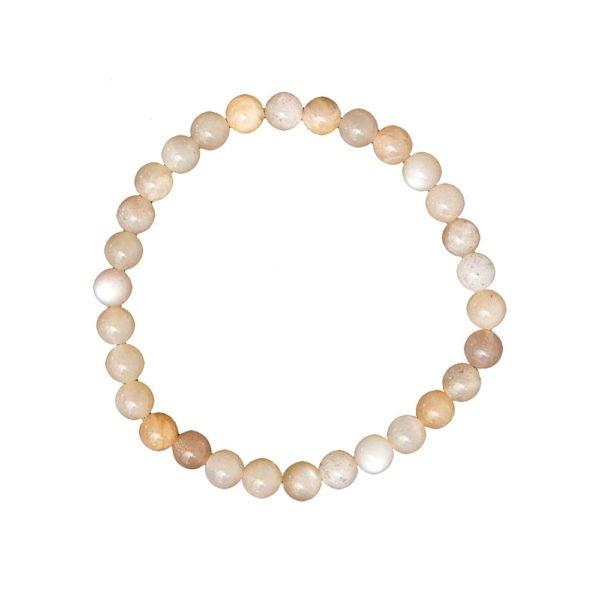 bracelet pierre de soleil pierres boules 6mm
