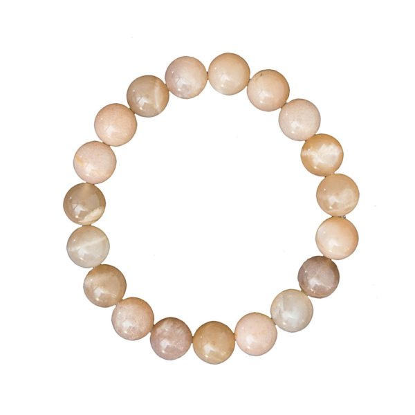 bracelet pierre de soleil pierres boules 10mm