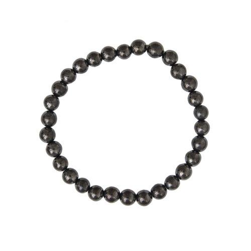 bracelet shungite pierres boules 6mm
