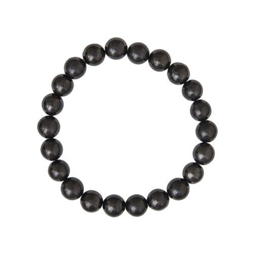 bracelet shungite pierres boules 8mm