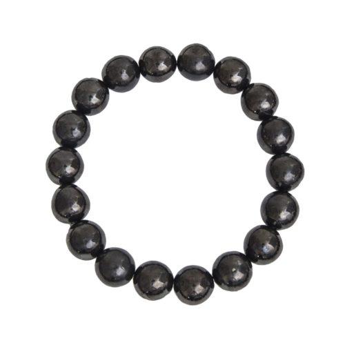 bracelet shungite pierres boules 10mm