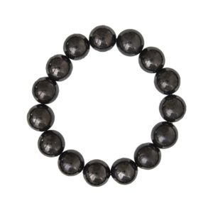bracelet shungite pierres boules 12mm